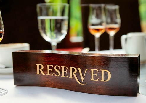 Reservation Etiquette The Restaurant Manifesto - Table reservation in restaurant