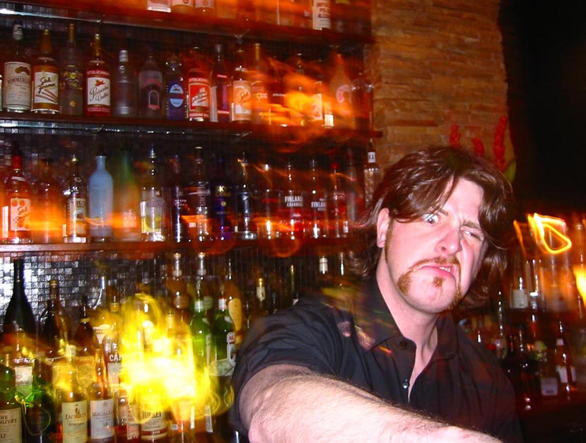 Image result for pissed bartender